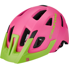Cratoni Maxster Pro Casque Enfant, pink-lime matt